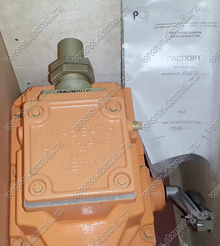 Электропривод МЗОВ-160/45-0,75РИ