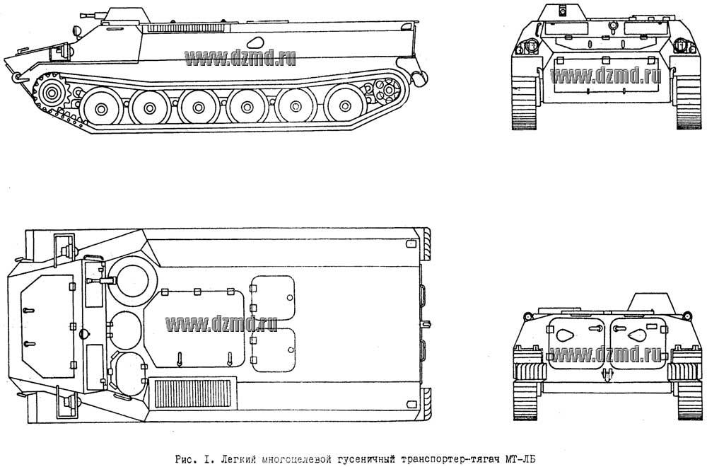 Легкий многоцелевой гусеничный транспортер тягач мт лб каталог деталей и сборочных единиц тсн 160а транспортер